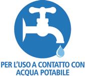Per l'uso a contatto con acqua potabile